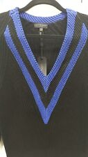 New With Tags - Rag & Bone Women's Talia-V-Neck Sweater Black&Blue Size Small P