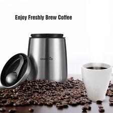 US Airtight Coffee Bean Canister Tea Sugar Storage Jar Lid Pot &Spoon Scoop