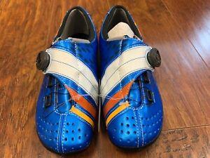 Bont Helix Bicycle Cycle Bike Cycling Shoes Blue / White Size 40