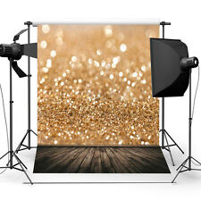 5x3ft Gold Glitter Sequin Photography Wall Backdrop Background Studio Prop Vinyl