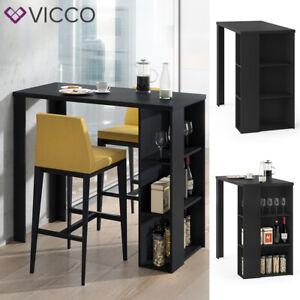 Table de bar VICCO NOEL, table de comptoir, noir