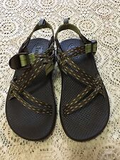 CHACO WOMENS BROWN/LIME SPORT SANDALS SIZE 5