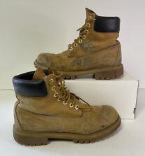 "Timberland Premium Men 6"" Waterproof Boot Size 9M Wheat Nubuck 10061"