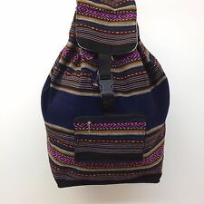 Native RASTA Artisan Hippie Baja Boho Ethnic Backpack Beach Handmade in Peru S04