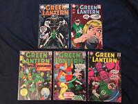 GREEN LANTERN Silver Age Lot of 5 Comics: #46,50,56,58 & 69, Average around VG-