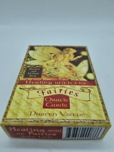 GENUINE.HEALING WITH THE FAIRIES Oracle Cards DOREEN VIRTUE 44 CARD DECK&BOOKLET