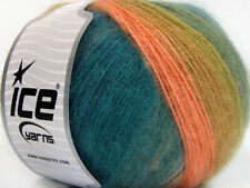 Lot of 4 x 100gr Skeins ICE ANGORA DESIGN (20% Angora 20% Wool) Yarn Salmon G...