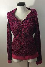 C4 Juicy Couture Pink Leopard Jacket XL! Hoodie Zip Up Spots Hood