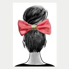 Hallmark Signature Birthday Card ~ Removable HAIR BOW- Coral Hair Bow