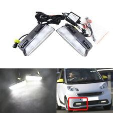 Factory Style Led Daytime Running Lights White Fog Lamp For Smart Fortwo 13-15