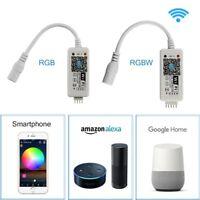 Mini WiFi Music Controller for RGB/RGBW 5050 LED Strip Light Alexa Google FY