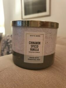 Bath & Bodyworks Cinnamon Spiced Vanilla 3 Wick Candle
