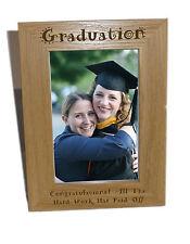 La graduazione in legno Photo Frame 6x8-personalizzare questo riquadro-INCISIONE GRATUITA
