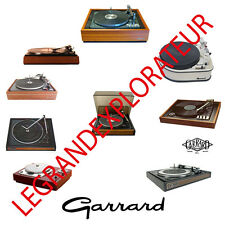 Ultimate Garrard Turntable Owner Repair & Service Manuals (PDF manual s on DVD)