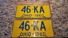 1960 Ohio License Plate Pair