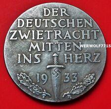 Adolf Hitler 1933 grandes Alemán Excelente moneda Segunda Guerra Mundial 39 mm exonumia 3RD Reich