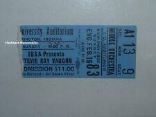 STEVIE RAY VAUGHAN 1986 Concert Ticket Stub BLOOMINGTON Indiana I.U. MEGA RARE