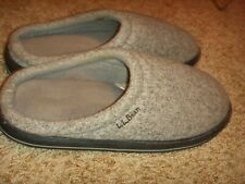 LL Bean Gray Soft Mule Slippers Mens Size 9M