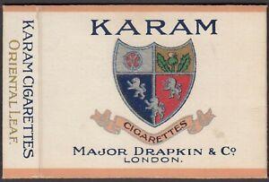 Major Drapkin Karam Empty Cigarette Packet.
