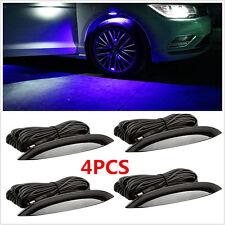 4X RGB Multi-color Car Fender Wheel Eyebrow Protector LED Lights+ Remote Control
