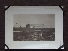 HOT AIR BALLOONS FLYING AROUND ZEPPELIN / BLIMP HANGER Vintage 1920's PHOTO