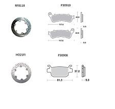 BRAKING SET FRONT REAR HONDA SH I 300 2012-2013 DISCS ROUND+PADS