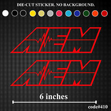 2x AEM Vinyl Sticker Decal Funny JDM Truck Window Bumper Racing Lowered Car Love