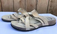 Abeo BRYCE Neutral Women's Light Brown Cork Foot-bed Sandals Size US 9.5