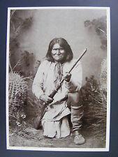 Geronimo Chiricahua Apache Chief Native American Indian Black & White Postcard