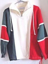 PACER SWEATSHIRT WOMENS PM 12 RED WHITE NAVY BLUE ZIPPER COLLAR NWT