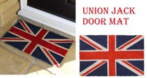 JVL Union Jack British Flag Coir Entrance Backed Coir Floor Door Mat, 40 x 70cm