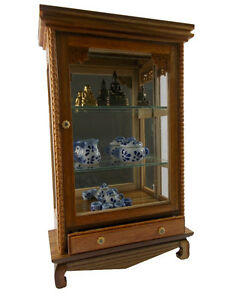 1PC Display Cabinet Wooden Storage Cupboard Drawers Miniature Furniture Shelves