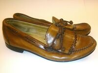 Allen Edmonds Mens Size 10D Brown Boat Shoes Woodstock Loafers Kilt Bow  USA