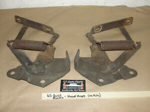 OEM 65 Buick Riviera FACTORY ORIGINAL HOOD HINGES WITH SPRINGS - NO PLAY