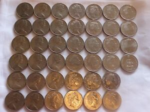 Australian 20c Platypus coin 1966 to 2020 circ coins set 20 cent excl 1985
