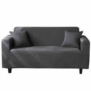1/2/3/4 Seater Stretch Sofa Slipcover Soft Chair Couch Cover Furniture Protector