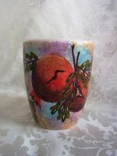 Becher Handmalerei Granatapfel Griechenland Porzellan Steingut
