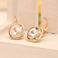 Best Fashion Womens Rhinestone Crystal Hoop Earrings Yellow Gold Plated Earings