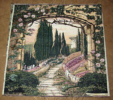 South of France Cypress Trees Arch Crafters Tapestry Large Pillow Fabric Piece