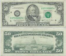 1990 Fifty Dollar $50 Federal Reserve FRN Note Cleveland, Ohio - F#2124D