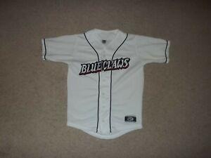 Lakewood Blueclaws sewn White Youth Boy's Medium Jersey OT Official Teamwear EUC