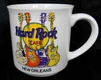 Hard Rock Cafe New Orleans Electric Guitars Coffee Mug Cup White