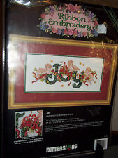Christmas Ribbon Embroidery Dimensions Joy Barbara Mock Gallery Collection