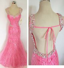 NWT Party Time 6039 HOT PINK $498 Party Formal Gown 10