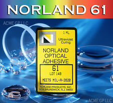 Norland 61 Optical Adhesive - UV Cure - NOA61-1mL - with 2 fine tip applicators