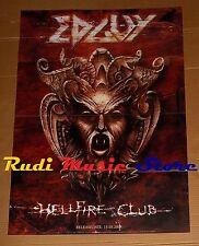 POSTER metal PROMO EDGUY HELLFIRE CLUB 84 X 59,5 cm NOcd dvd vhs lp live mc