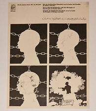 1974 Cuban Original Political Poster.Anti-Apartheid Racism.SOUTH AFRICAn.art