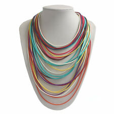 Fashion Magnet Multi LAYERED Collier Ethnique Boho Waxed Cords Choker Necklace