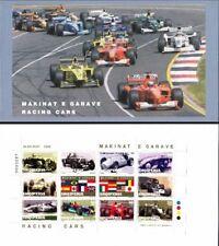 Albania stamps 2000. Racing Cars. Formula 1. Sport. Souvenir Sheet Booklet MNH