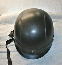RHD200 LEATHER OUTSIDE- with BRIM Polo Jockey Motorcycle Half Helmet  (19)